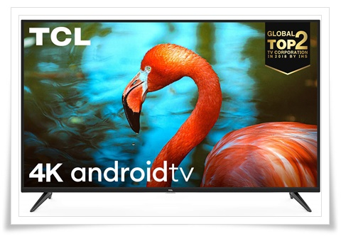 TCL 65 inches 65P8 AI 4K UHD Certified Android Smart LED TV