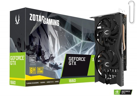 Zotac Gaming GeForce GTX 1660 Twin Fan DDR5 Graphic Card - best graphics card under 20000, best graphics card under 20000 2020, best graphics card under rs 20000