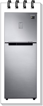 Samsung 253L 3 Star RT28T3483S8-HL Inverter Frost Free Double Door Refrigerator
