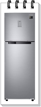 Samsung 275L 3 Star RT30T3743S9-HL Inverter Frost Free Double Door Refrigerator