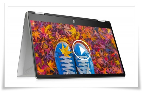 HP Pavilion x360 14-DH1178TU Core i3 Touchscreen 14-inch FHD Laptop - best laptop under 50000, best gaming laptop under 50000, best laptop under 50000 in india 2021