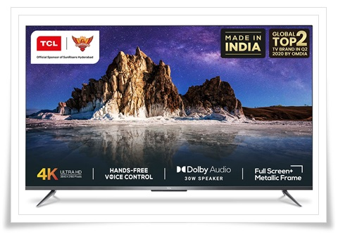 TCL 55 inches 55P715 AI 4K Ultra HD Certified Android Smart LED TV