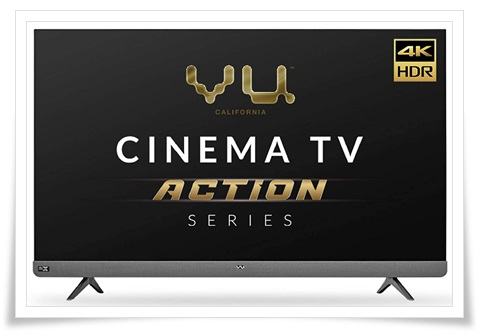 Vu 55-Inches 55LX Cinema TV Action Series 4K Ultra HD LED Smart Android TV